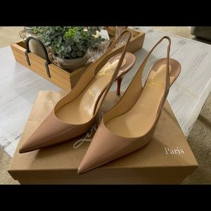 Christian Louboutin Clare Sling 80 Patent Leather
